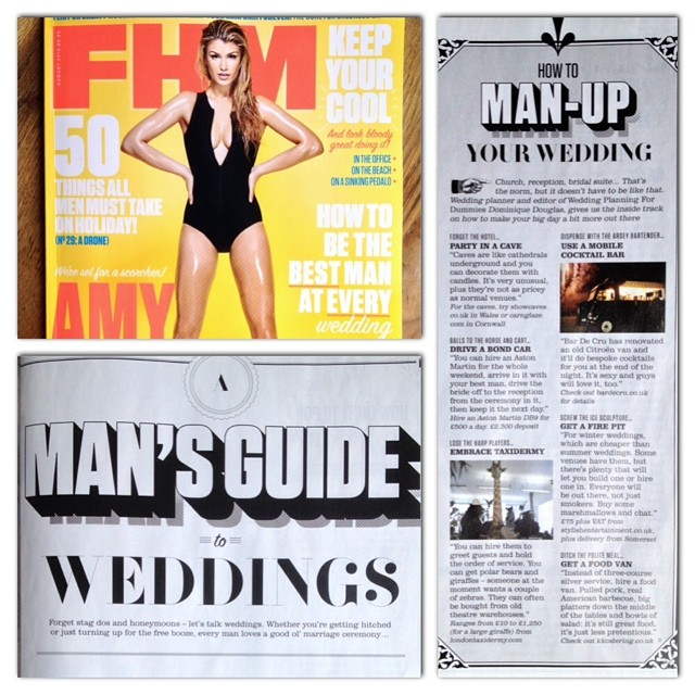 FHM – How To Man Up Your Wedding